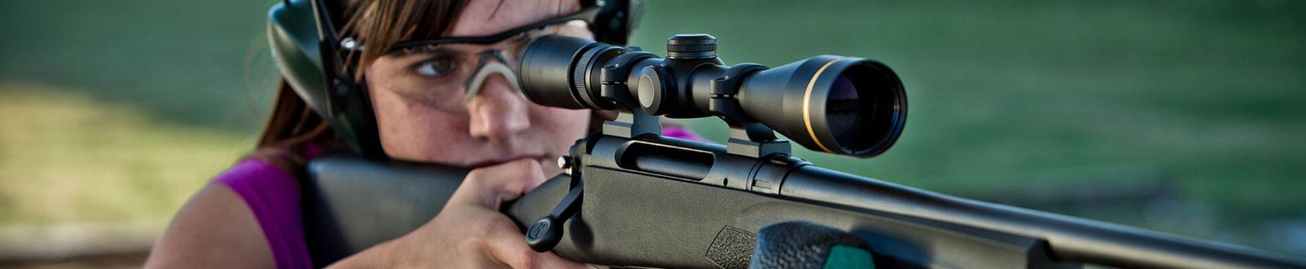 Woman Shooting Rifle
