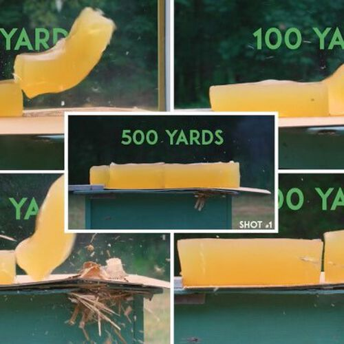 shot gel blocks at different yards
