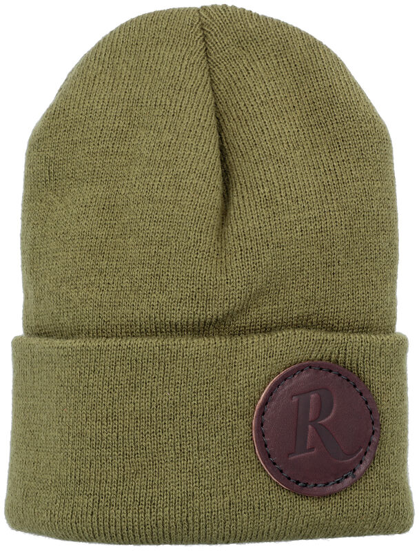 Remington Leather patch Beanie